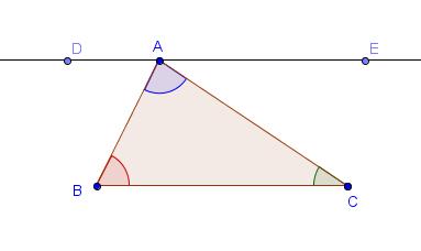 triangle angle sum proof