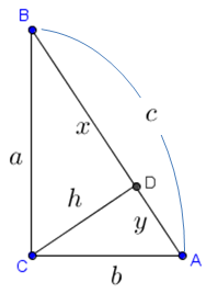 right triangle altitude theorem